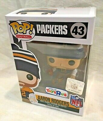 Funko Pop Packers 43 Toys R Us Exclusive Aaron Rodgers toysrus with protector