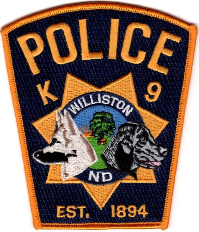Williston Police K9 Canine  Police Patch North Dakota ND