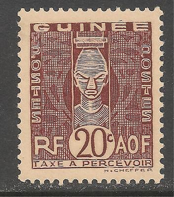 French Guinea #J29 (D4) VF MINT - 1938 20c African Head / Postage Due