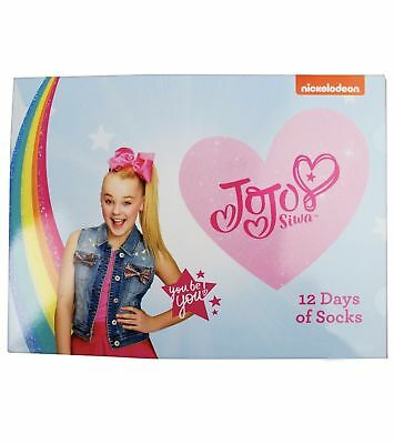 Girls JoJo Siwa 12 Days of Socks Christmas Advent Calendar Shoe Sz Small 5.5-8.5
