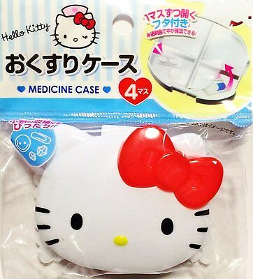 Hello Kitty Medicine Case 4 Perfect for storage of small items DAISO MADE IN JP