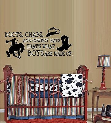 Boots Chaps and Cowboy Hats, #3  ~  Wall Decal: Horses - Cowboy Hats And Boots