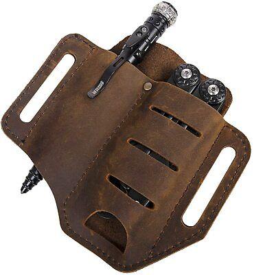 EDC Leather Sheath Multitools Sheath for Knives Flashlights Tactical pens Tools