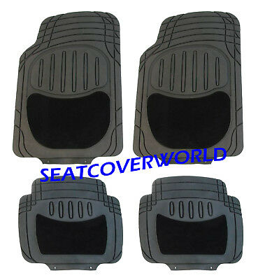 BMW All Weather HEAVY Duty CARPET  RUBBER CAR Floor MATS 1 2 3 4 5 Series