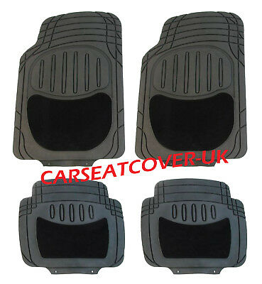 DS 4   Black HEAVY DUTY All Weather RUBBER  CARPET Car Floor MATS