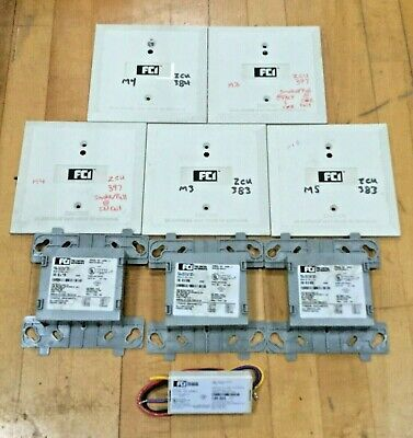 Lot Of 9 Fci Fire Safety Components Monitor Module Amm-2 Amm- 4 Base Plates