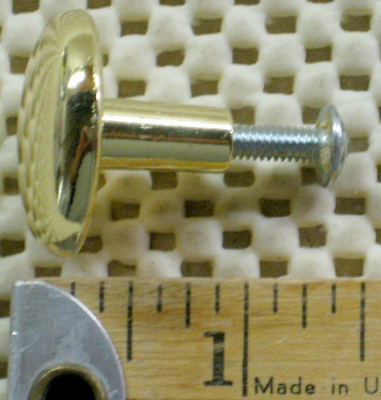 O o o . Set Of 3 POLISHED Brass Metal DRAWER KNOBs Handles . CABINET PULLs - $9.00