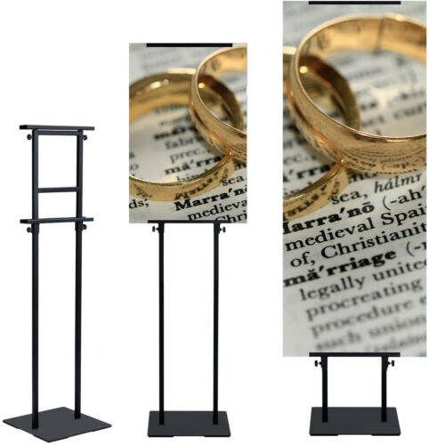 1 pack,Poster Stand Adjustable Sign Holder Floor Standing Double-Sided Display