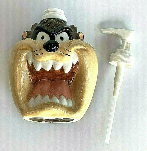 Taz Looney Tunes Ceramic Hand Soap Pump Dispenser Warner Bros 1993 New No Box