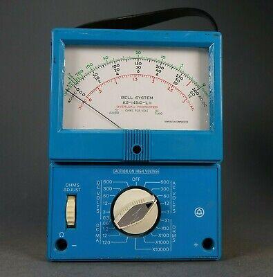 Rare Bell System Model Ks-14510-lii Tester Meter Ohms Volts