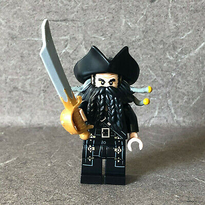 Lego Pirates of the Caribbean BLACKBEARD MINIFIGURE Sword 4192 4195 Queen Anne