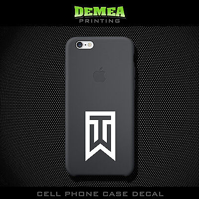Tiger Woods - Cell Phone Vinyl Decal Sticker - iPhone - Choose Color (X2)