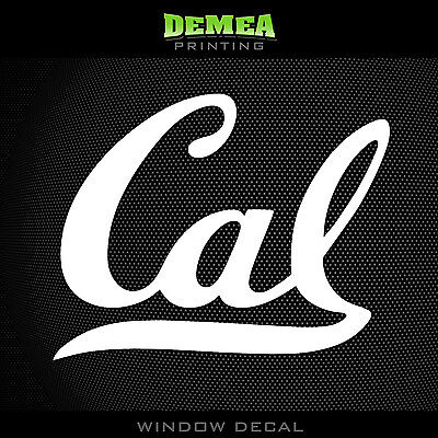 Cal Bears   Ncaa   White Vinyl Sticker Decal 5