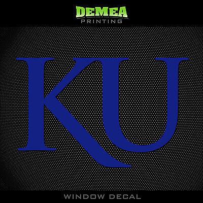 - Kansas - Jayhawks  -  NCAA - Blue Vinyl Sticker Decal 5