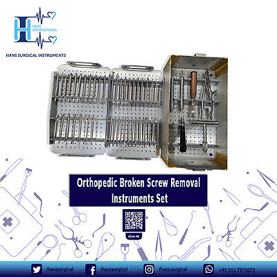 Orthopedic Broken Screw Removal Instrument Set Of Orthopedic Spine Instrument