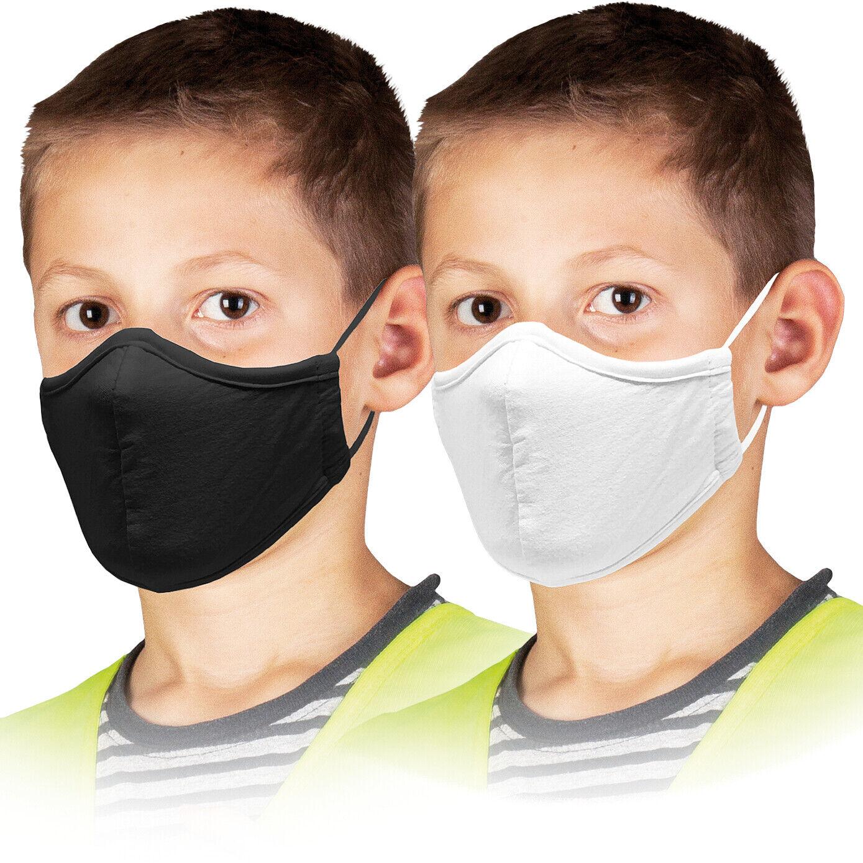 Maske Kinder 5 STÜCK Mundschutz 100% Baumwolle Stoffmaske waschbar 3-lagig