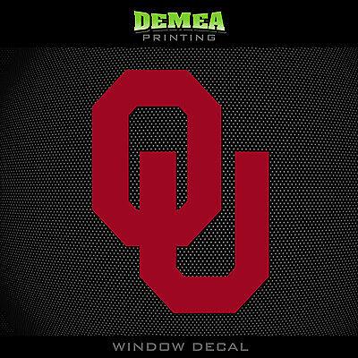 University Of Oklahoma   Sooners   Ou   Ncaa   Red Vinyl Sticker Decal 5