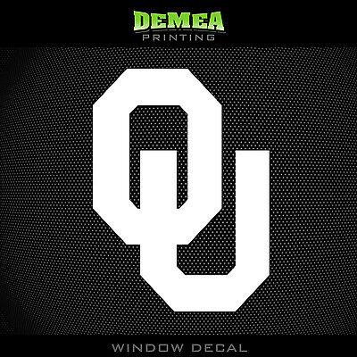 University Of Oklahoma   Sooners   Ou   Ncaa   White Vinyl Sticker Decal 5