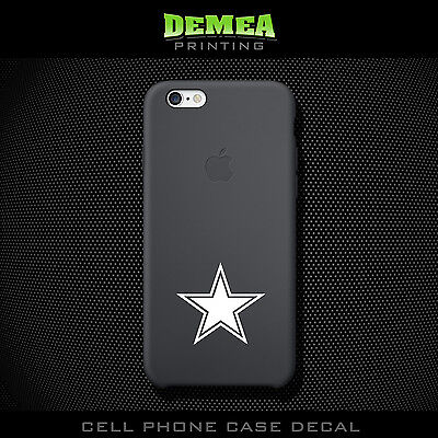 NFL Cowboys - Cell Phone Vinyl Decal Sticker - iPhone - Choose Color (X2)