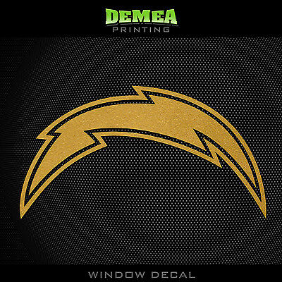 San Diego Chargers Vinyl - San Diego Chargers NFL - Gold Vinyl Sticker Decal 5