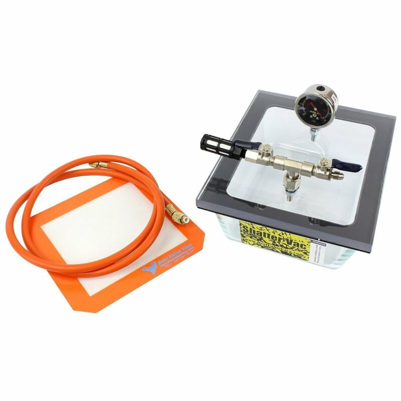 2.75QT Pyrex SVac Vacuum Degassing Chamber with Polycarbonate Lid