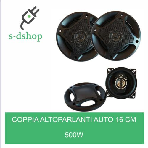 COPPIA ALTOPARLANTI AUTO 16 CM 3 VIE 400WATT CASSE 400W WOOFER SPEAKER