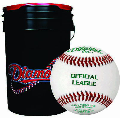 30 - Diamond Sports Baseball & Ball Bucket Combo DOL-1 BLEM Practice Balls