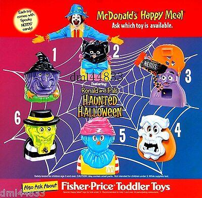1998 McDonalds Haunted Halloween MIP Complete Set of 6, Boys & Girls, 3+