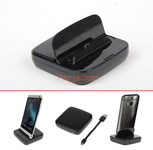 Micro USB Desktop Data Sync Charger Dock Station Cradle Mount for HTC ONE M8