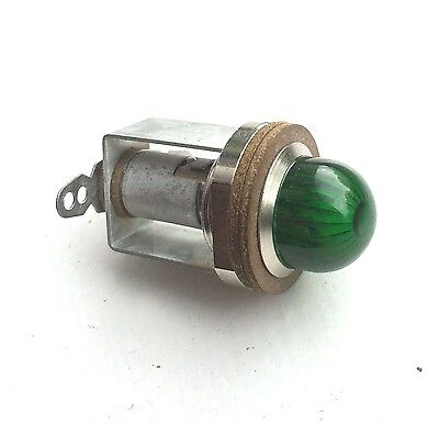 HARLEY VINTAGE OLD GREEN PILOT LAMP INDICATOR LIGHT  RARE NOS stock