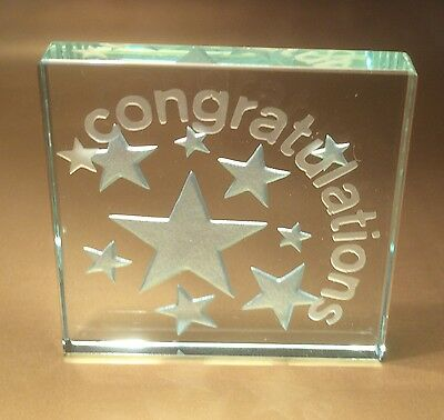 Spaceform Congratulations Glass Token Gift Ideas for Graduation Exams Test 1320