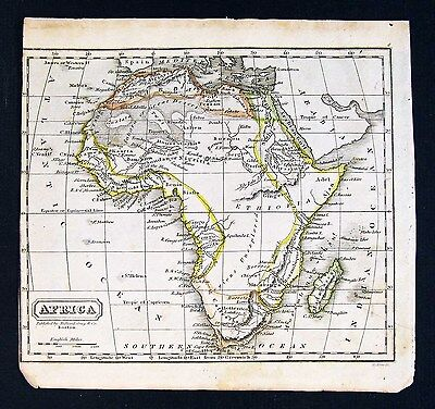 1828 Morse Map - Africa - Angola Congo Gold Ivory Coast Guinea Cafraria South