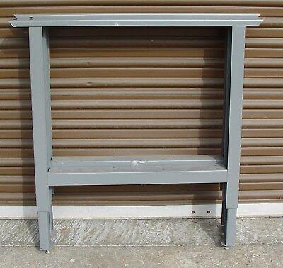 Pair Of 36 Industrial Bench Legs Metal Steel Table Adjustable Height