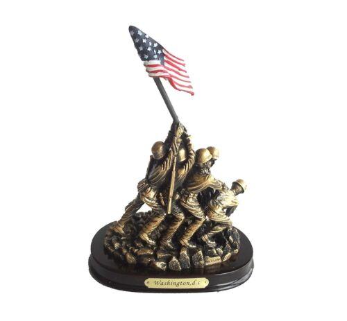 """Iwo Jima Memorial Flag 6"""" Statue Marine Corps War Memorial Great Patriotic Gift"""