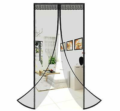 Instant Mesh Net Screen Door Anti Mosquito Bug Fly Curtain Magnetic Hands - Instant Bug Screen