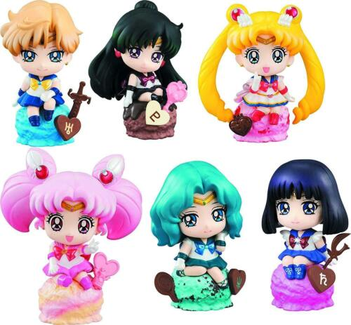 6pcs Sailor Moon Tsukino Usagi Cute Mini Figures Ice Cream Party Set Cake Topper