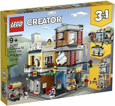 Lego Creator 31097 Townhouse Pet Shop & Cafe 969 Pieces| Brand New in Retail Box