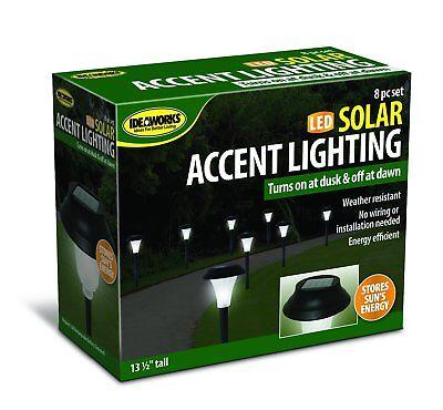 Ideaworks JB5629 Solar-Powered LED Accent Light, Set of 8
