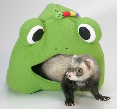 - Marshall Ferret Cage Leisure Lodge Bed Tunnel Toy Frog