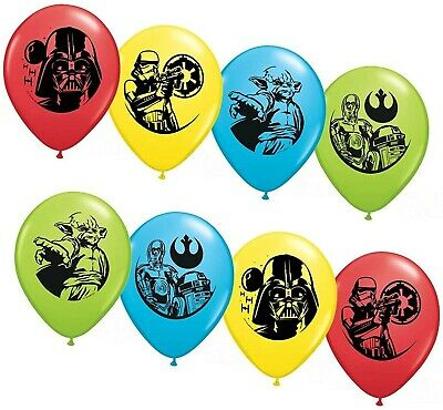 "Party Supplies - Pioneer Latex Balloons 6 ct 12"" Star Wars"