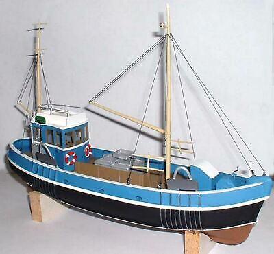 13.7m Pesca Arrastre Barco Enviar OM1 sin Pintar O Escala Langley Models...