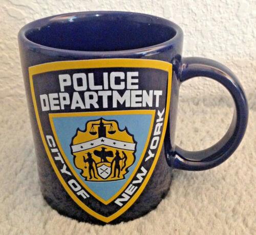 City of New York Police Department NYPD Coffee Tea Mug Cup Blue Citymugs