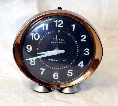 Vintage Westclox Big Ben Repeater Bedside Alarm Clock (Made in Scotland)