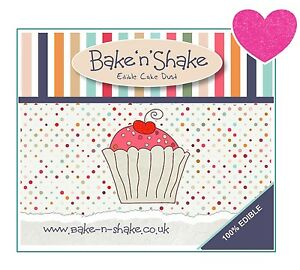 Bake-n-Shake-100-Edible-Bubblegum-Pink-Cupcake-Dust-Not-non-toxic-glitter