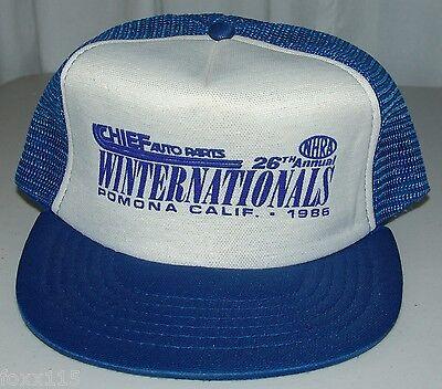 Vintage Winston Winternationals Cheif Auto Parts Pomona CA NHRA Snapback Hat Cap (Cheif Hat)