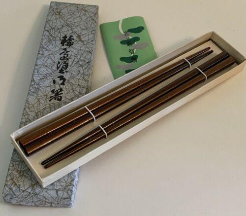 Vintage Wooden Asian Chopsticks in Original Box ~ Made in Japan