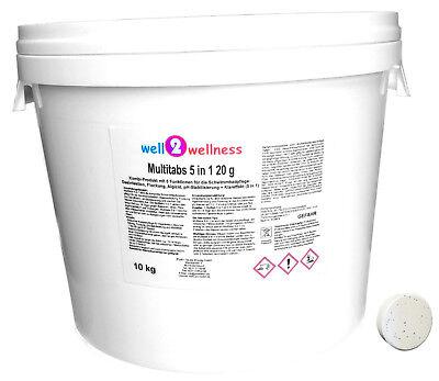 Kleine Chlor Multitabs 5in1 20g / Chlortabletten 20g - 10 kg (2x5Kg) Kleine Tabs
