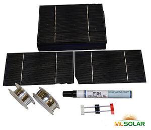 Diy solar panel ebay 300 w 3x6 solar cell 160 cell kit diy 12v solar panel b battery solutioingenieria Image collections
