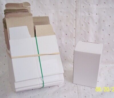 Lot 25 Gift Retail White Packaging Boxes Lightweight Cardboard Shipping