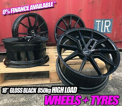 VW Transporter T5 T6 18 inch Alloy Wheels And Tyres Turismo Spyder Design +Tyres